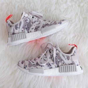 9063b99213215 adidas Shoes - adidas Originals NMD R1 Camo Chalk White Solar Red